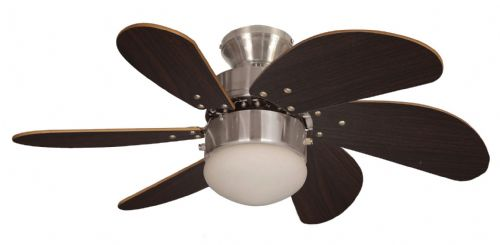 "Eurofans Atlanta  30"" Brushed Nickel Ceiling Fan +  Light 114390"